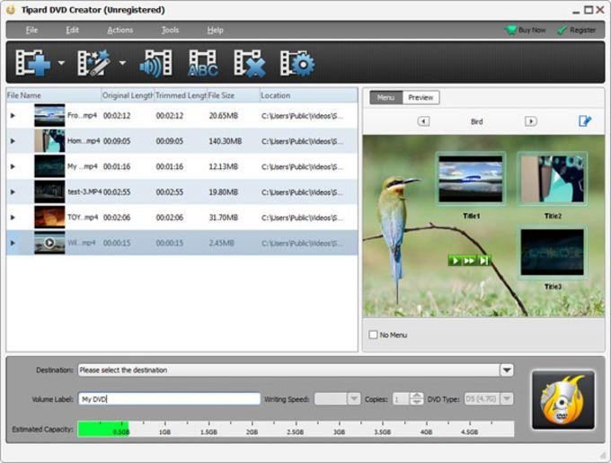 Resultado de imagen para Tipard DVD Creator 5