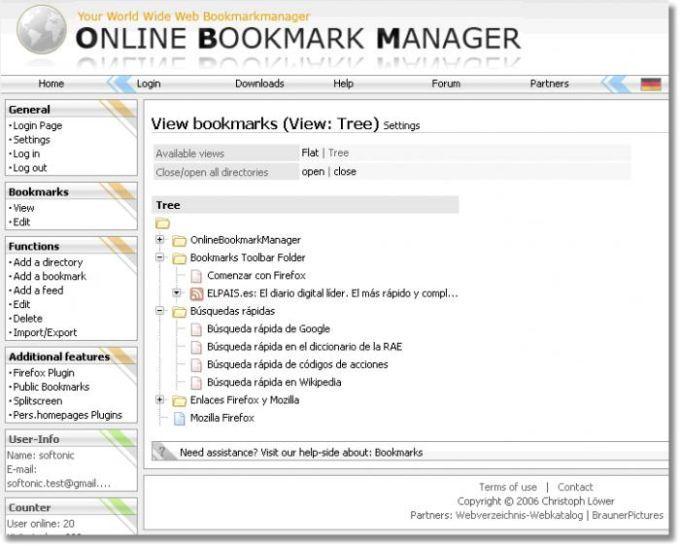 Online Bookmark Manager