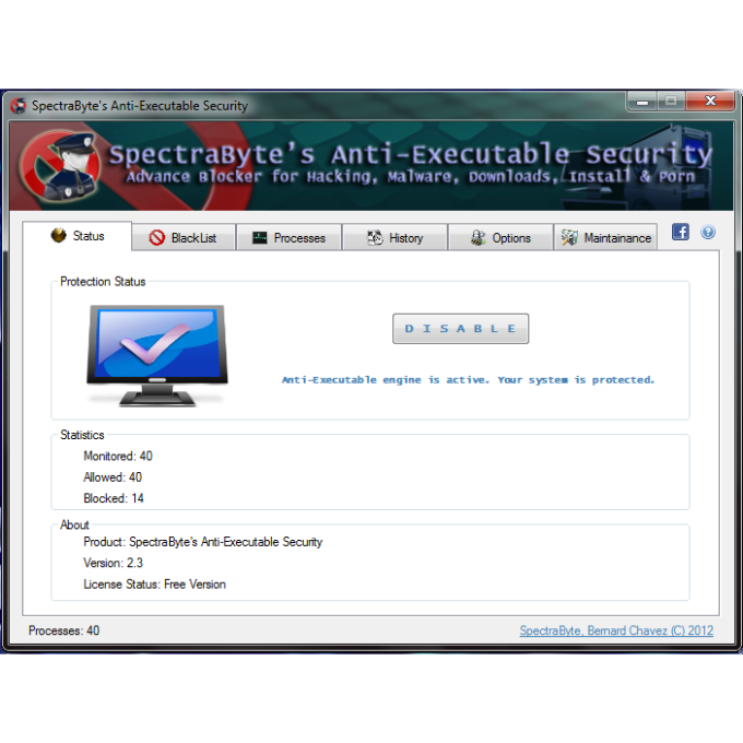 SpectraByte Anti-Executable Security