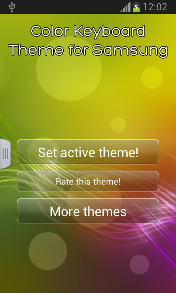Color Keypad Theme for Samsung