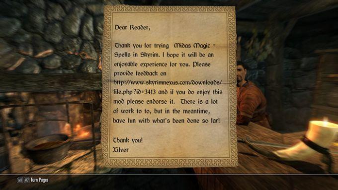 Midas Magic - Spells in Skyrim