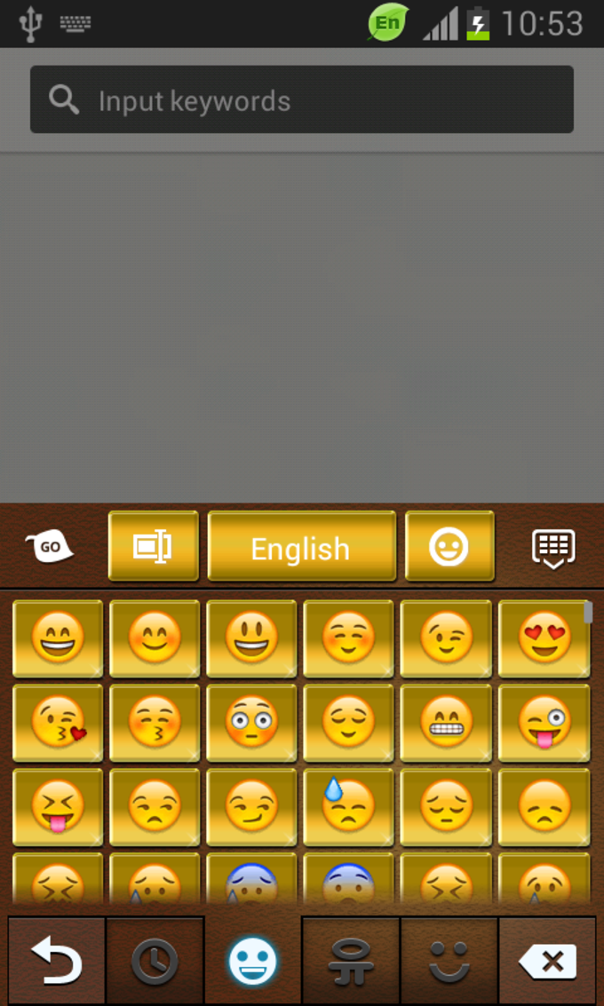 GO Keyboard Gold Theme