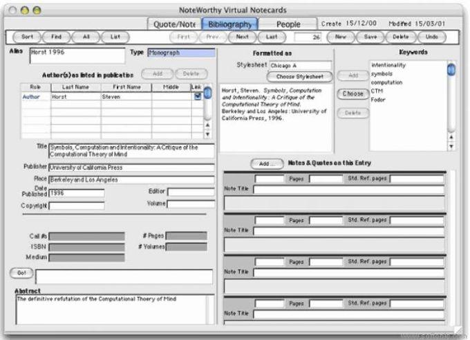 NoteWorthy Virtual Notecards