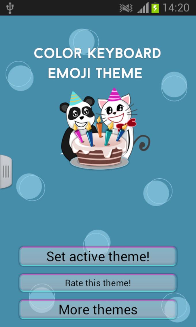 Color Keyboard Emoji Theme
