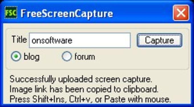 Free screen capture