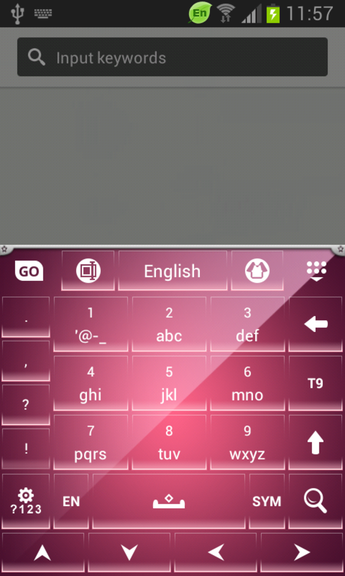Keyboard Themes Pink