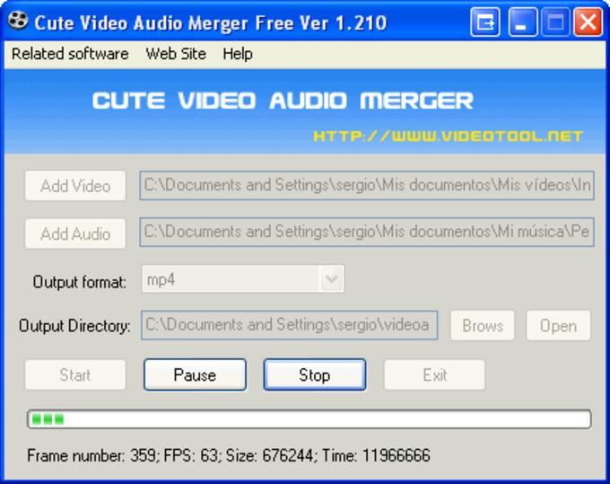 Cute Video Audio Merger