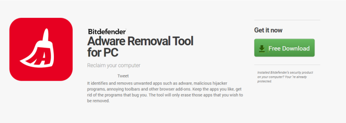 Bitdefender Adware Removal Tool for PC