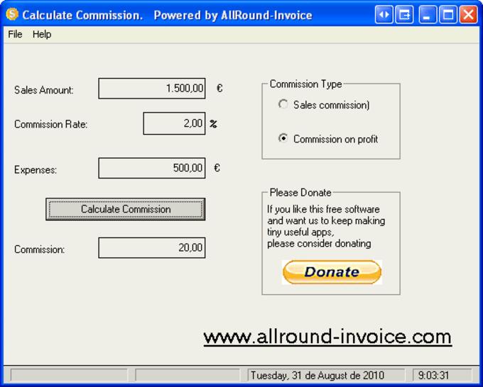 Sales Comission Calculator