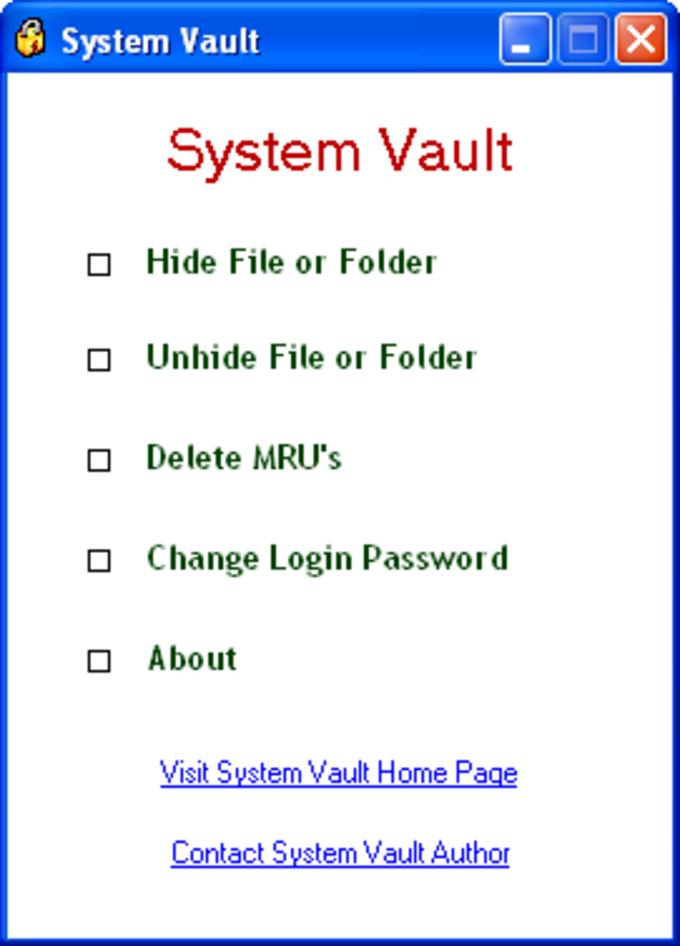 System Vault