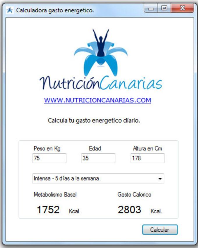 Calculadora Tasa Metabolica