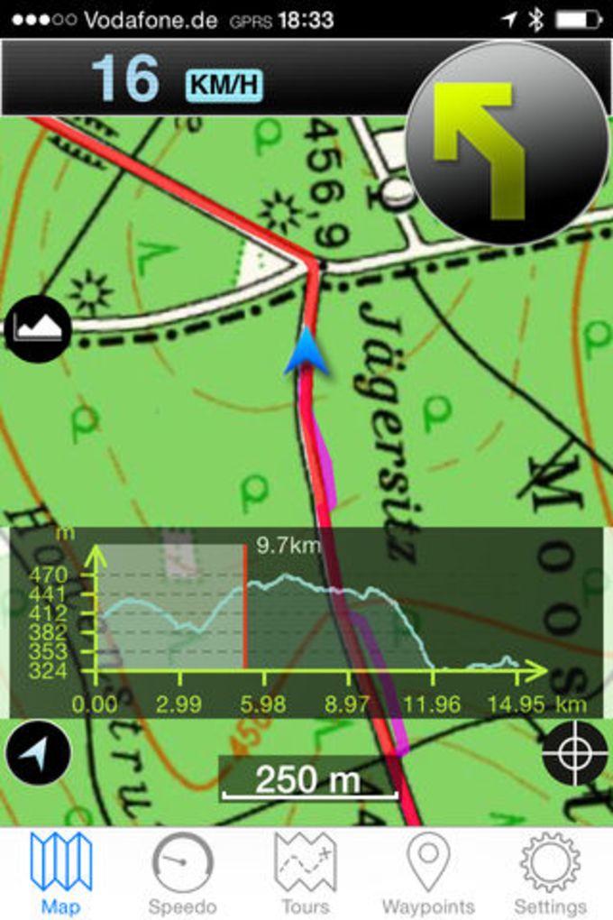 Scout Outdoor-Navigation für Radfahren und Wandern