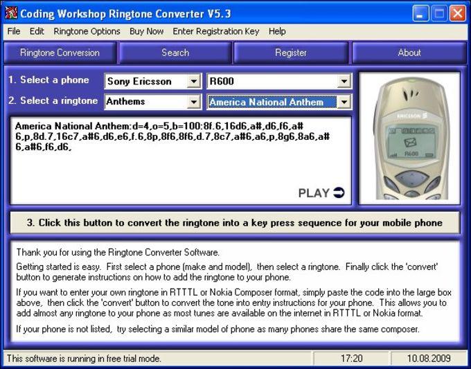 Coding Workshop Ringtone Converter