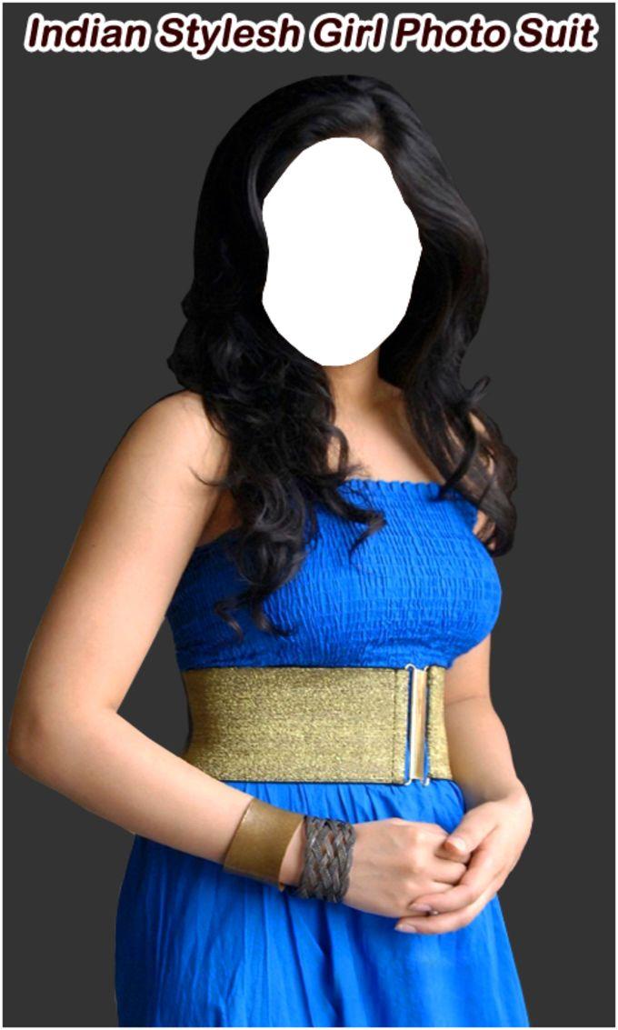 Stylish Indian Girl Photo Suit