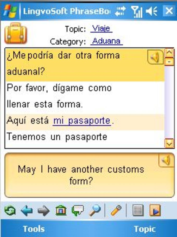 LingvoSoft Talking PhraseBook 2009 English-Spanish