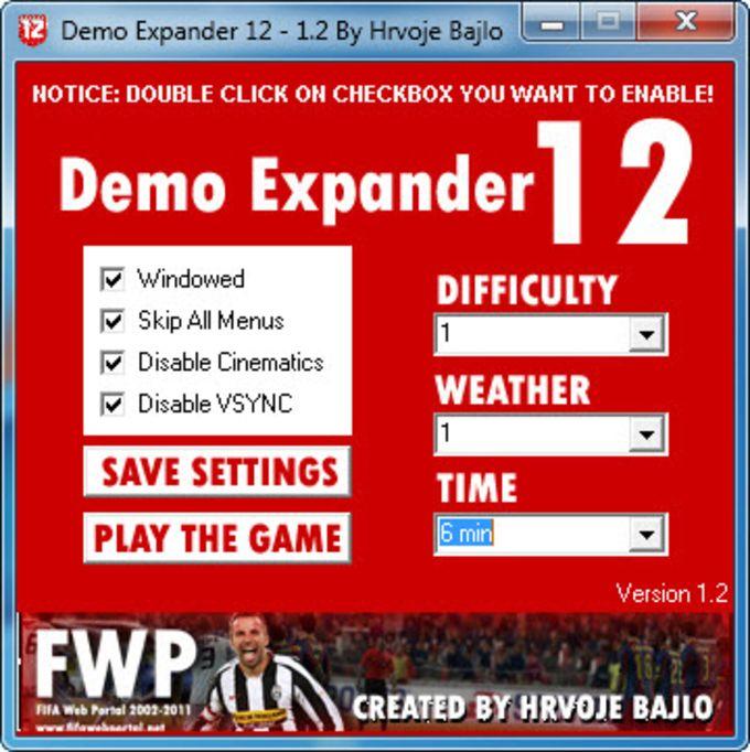 FIFA 12 Demo Expander