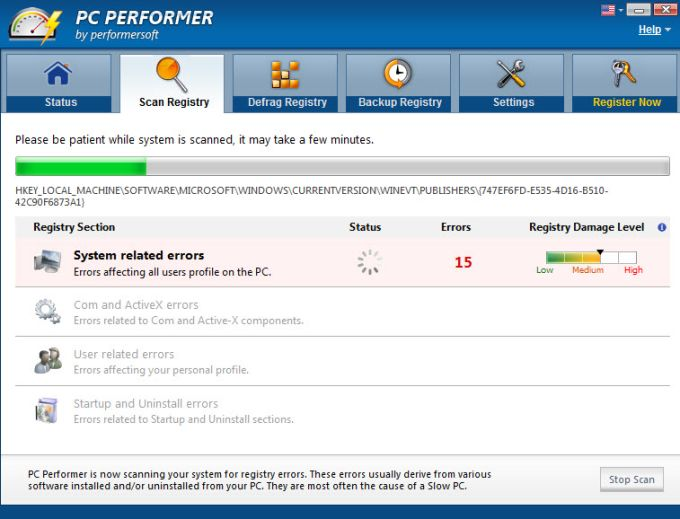 PC Performer scan