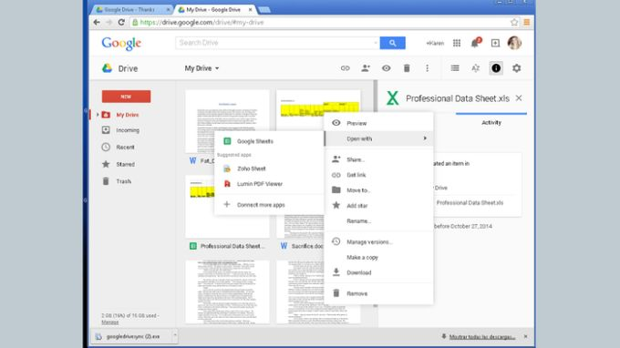 Application Launcher for Drive