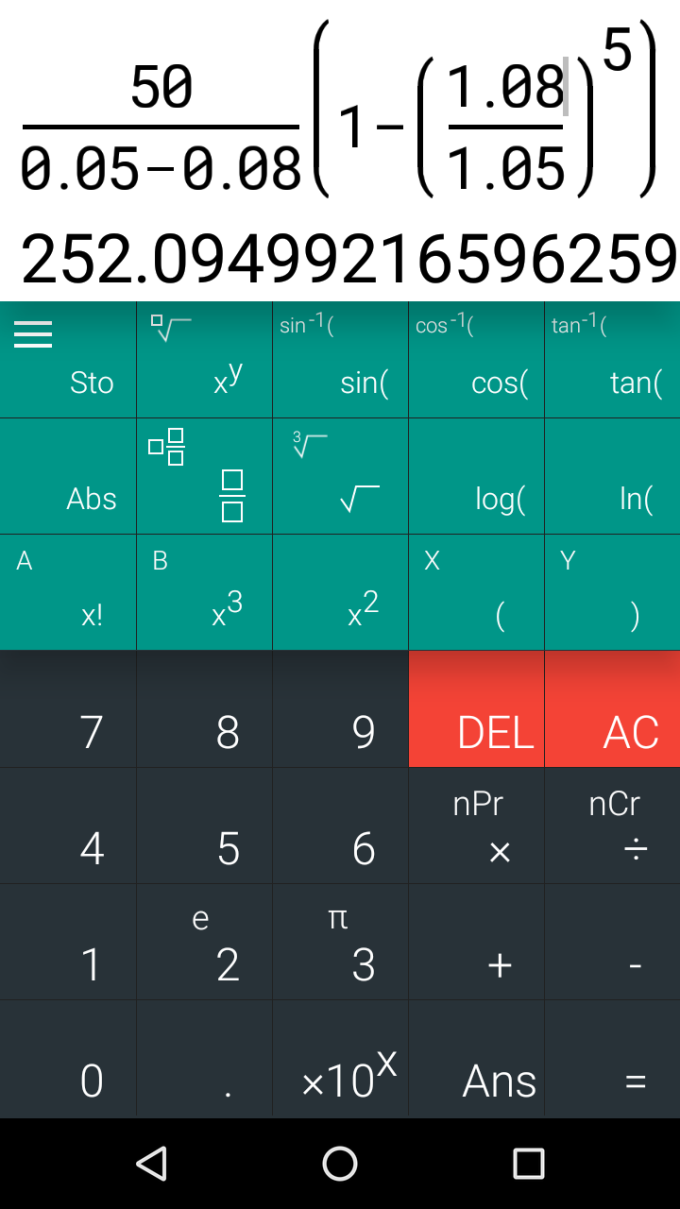 Natural Scientific Calculator