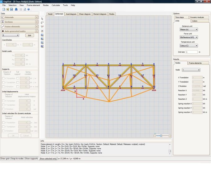 2D Truss Analysis