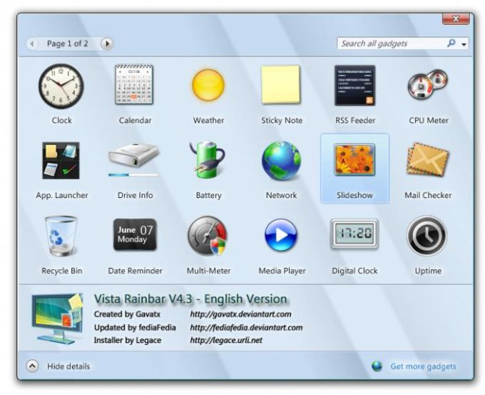 Vista Rainbar V4