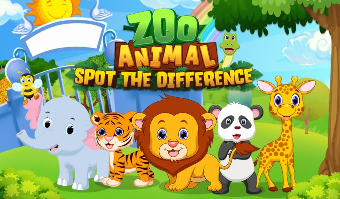 Zoo Animal Spot The Difference