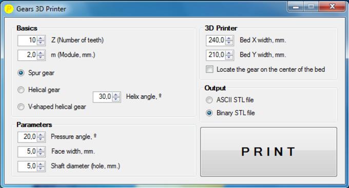 Gears 3D Printer