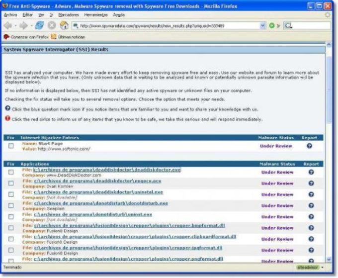 System Spyware Interrigator