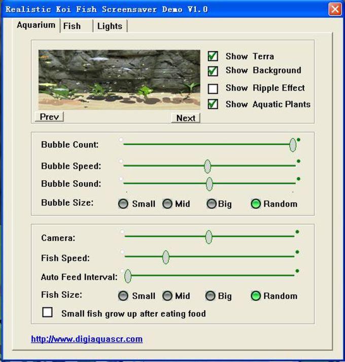 Realistic Koi Fish Screensaver