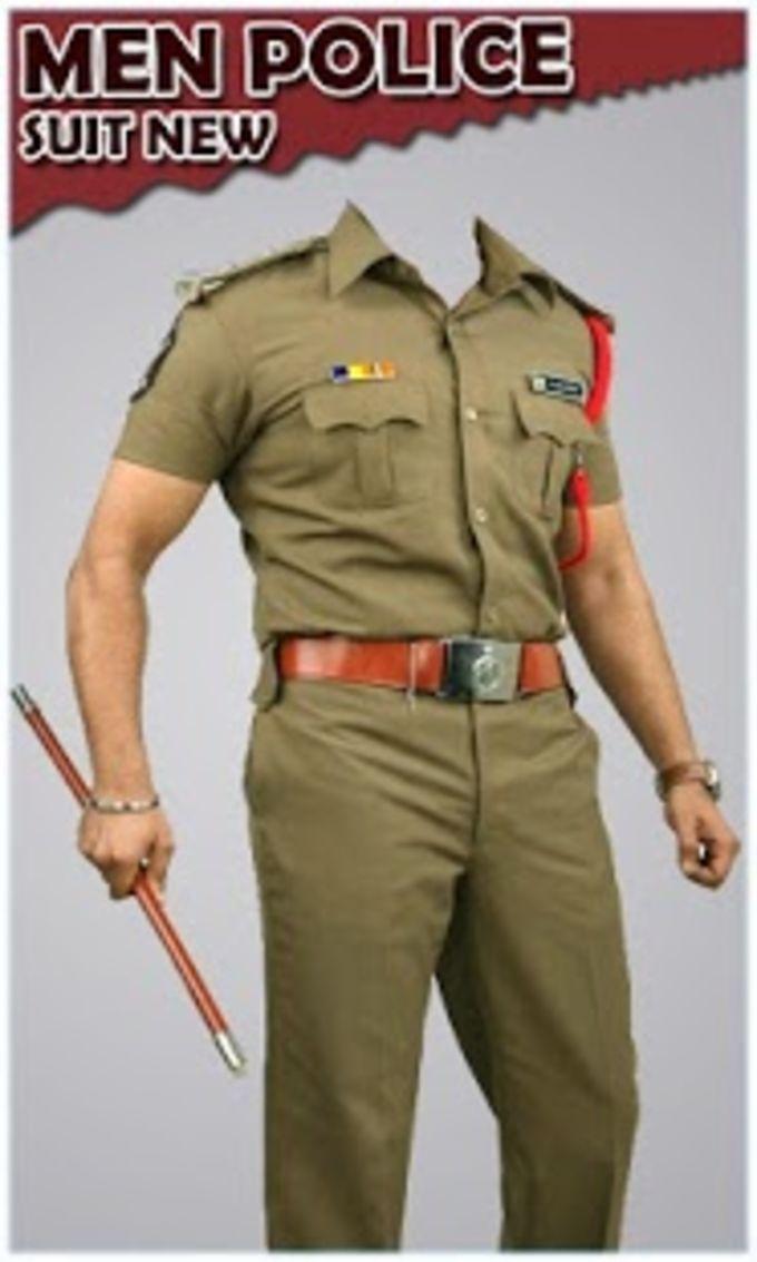 Men Police Suit New