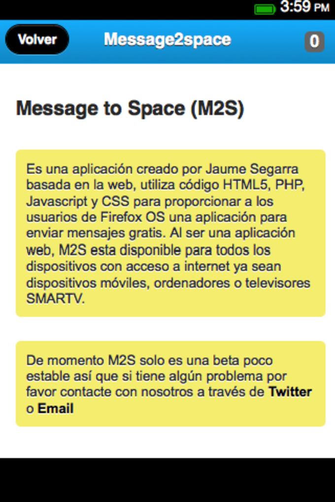Message to Space (M2S)