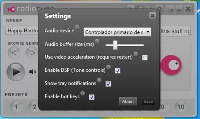 RadioTuna Desktop