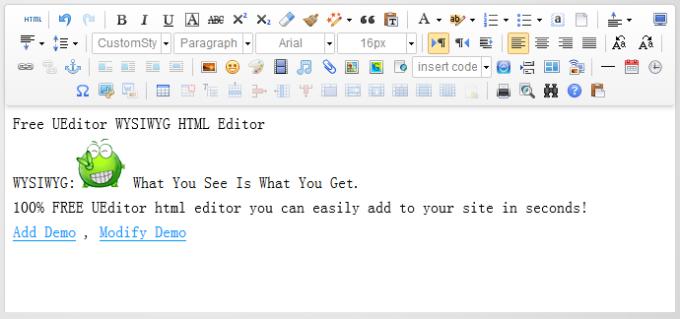 UEditor WYSIWYG HTML Editor