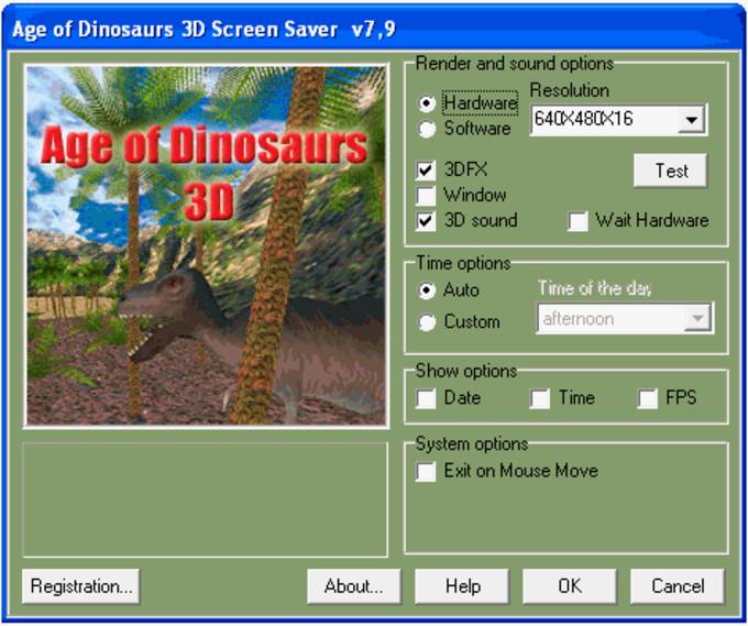 Age of Dinosaurs 3D ScreenSaver