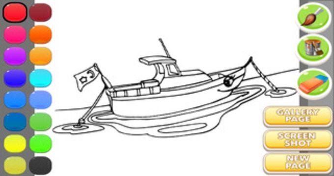 Ship Coloring Book