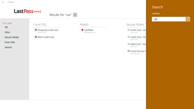 LastPass for Windows 10