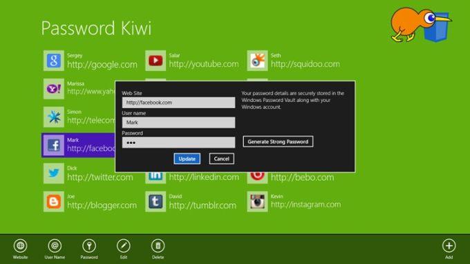 Password Kiwi for Windows 10