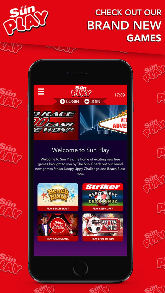 The Sun Play: Skill games & challenges, plus casino slots