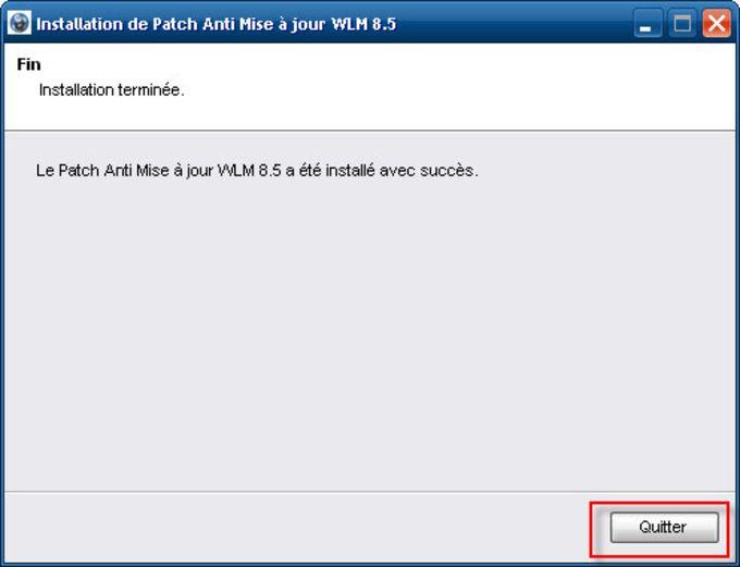Patch antiaggiornamento per Windows Live Messenger 8.5