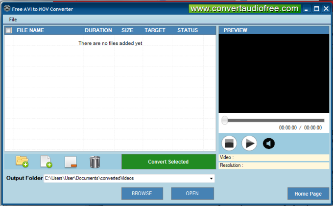 Free AVI to MOV Converter