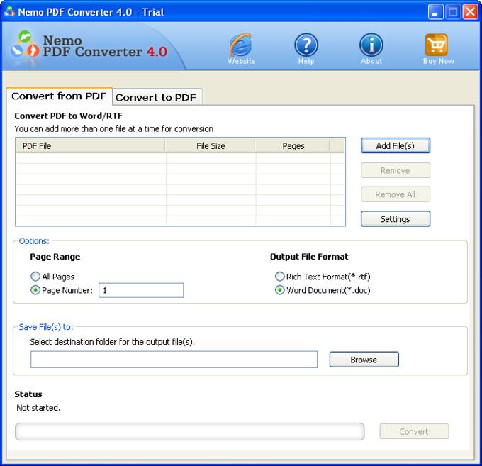 Nemo PDF Converter