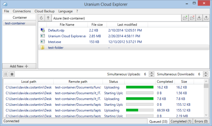 Uranium Cloud Explorer