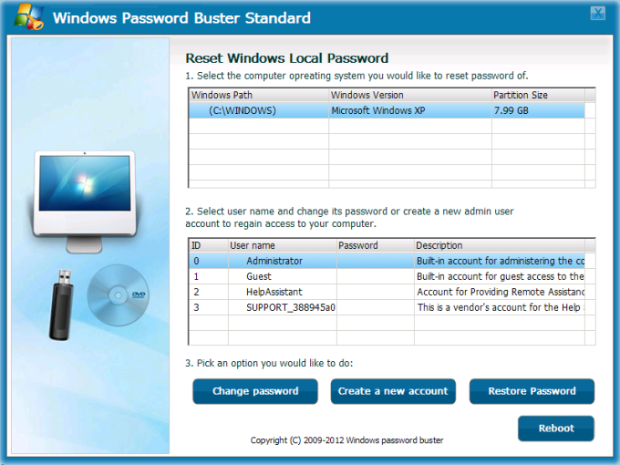 Windows Password Buster Standard