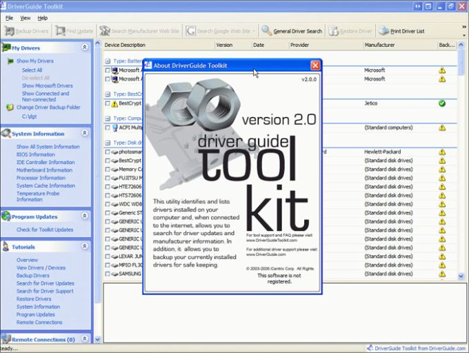 DriverGuide Toolkit