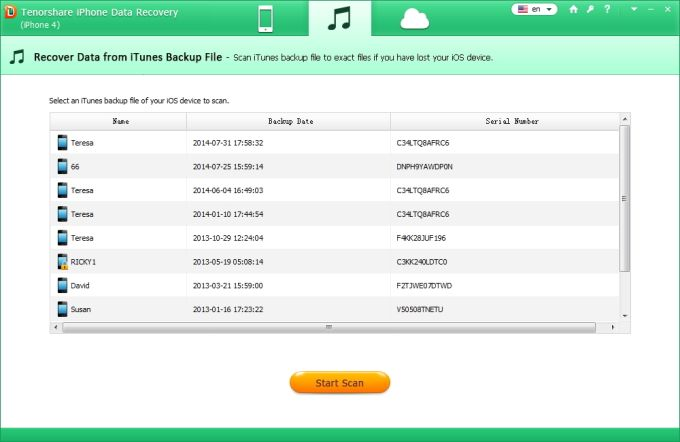 Tenorshare iPhone Data Recovery  Download