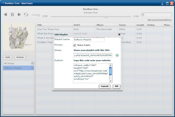 blueTunes Desktop