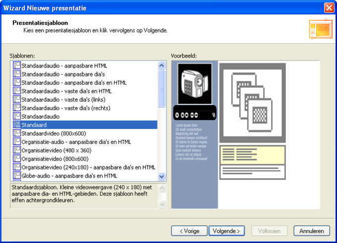 Microsoft Producer voor PowerPoint 2003