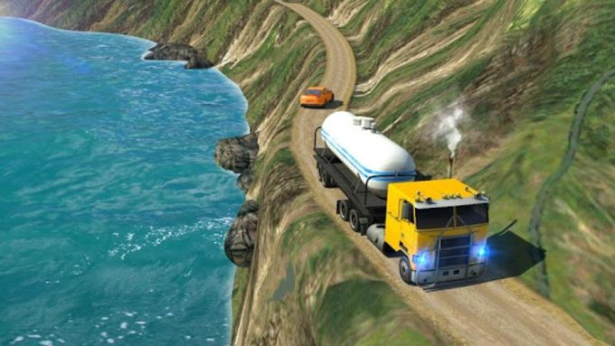 Oil Tanker Truck Simulator: Hill Climb Driving