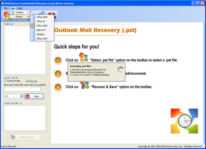 Outlook Mail Recovery (.pst)