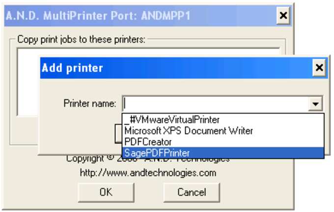 MultiPrinter Port